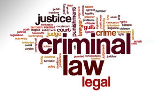 Criminal Law Words Image
