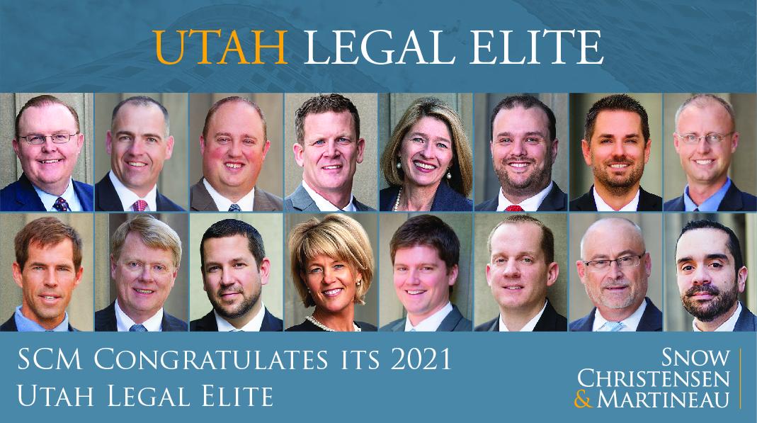 Utah Legal Elite Award - SCM Legal - Business